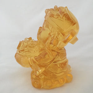 Gods (Fortune) of Five-Way Wealth in amber color 5pcs/set - 五路財神