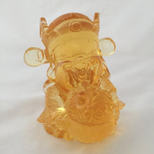 Load image into Gallery viewer, Treasure Bowl God - Gods (Fortune) of Five-Way Wealth in amber color - 五路財神-聚寶盆