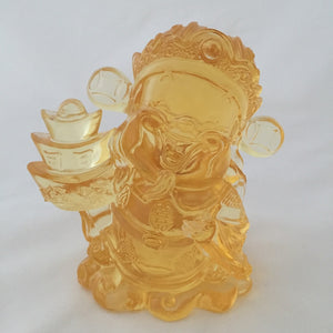 Three-Ingots God - Gods (Fortune) of Five-Way Wealth in amber color - 五路財神-三元寶