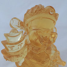 Load image into Gallery viewer, Three-Ingots God - Gods (Fortune) of Five-Way Wealth in amber color - 五路財神-三元寶