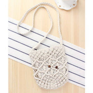 Fashion Ladies' bag - Ladies Mini Crossbody single shoulder Handmade Bag in White color