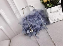 Load image into Gallery viewer, Fashion Ladies' bag - Elegant Soft Feather Clutch Evening bag Purse with 4 colors