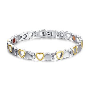 Bracelet - Hearts design Magnetic Therapy Bracelet