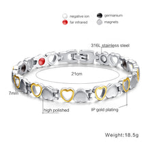 Load image into Gallery viewer, Bracelet - Hearts design Magnetic Therapy Bracelet