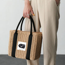 Load image into Gallery viewer, Fashion Ladies' bag - Large capacity straw rattan tote bags in Brown color