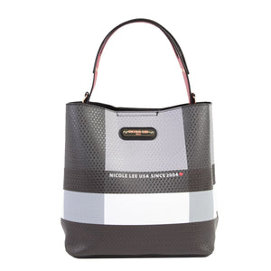 Nicole Lee Stylish Check Tote Bag/handbag/beach bag/shoulder-backs bag/smooth and sexy bag