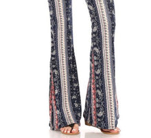 Load image into Gallery viewer, Amore Jewell Fashion Ladies' Pants - Soft Brushed PAISLEY BOHO Printed Flare Pants