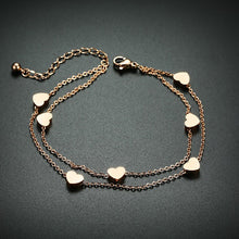 Load image into Gallery viewer, Bracelet - Elegant bracelet  Heart shape in rose gold color.