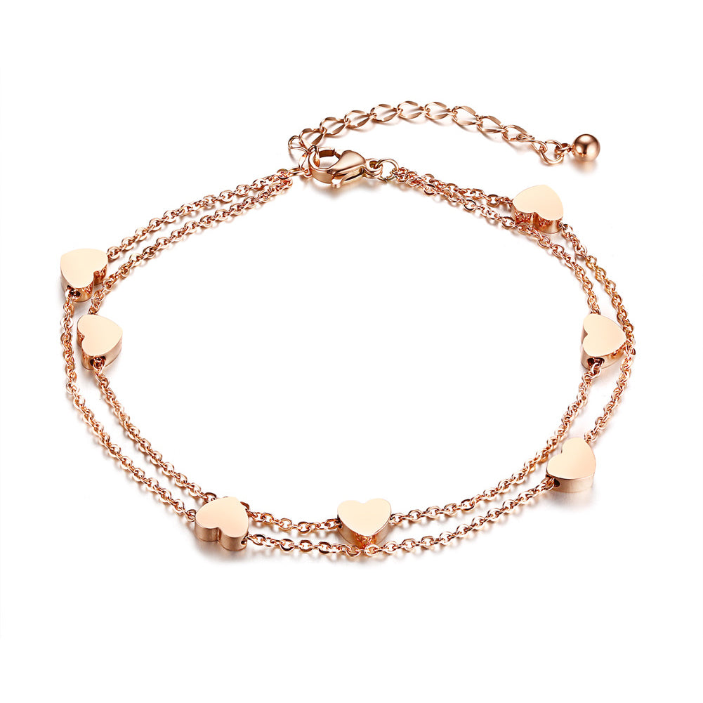 Bracelet - Elegant bracelet  Heart shape in rose gold color.