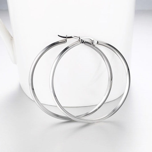 Earrings -Modern design in  big circle shape