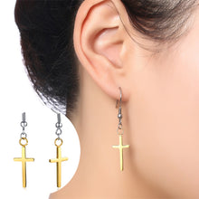 Load image into Gallery viewer, Earrings -Elegant earring Cross design  in gold color