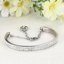 Load image into Gallery viewer, Bracelet - Elegant bracelet with shiny rhinestones extend chain with pendant in heart shape.