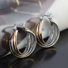 Load image into Gallery viewer, Earrings - Popular 3-color 3-ring  shape