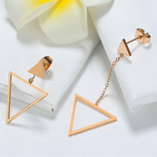 Load image into Gallery viewer, Earrings -Elegant & Fashion Triangle shape in rose gold color