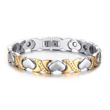 Load image into Gallery viewer, Bracelet - Elegant Heart design in gold color  Magnetic Therapy Bracelet