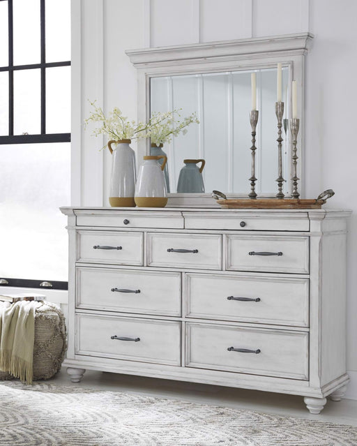 Signature Design Kanwyn Wood Casual Dresser and Mirror