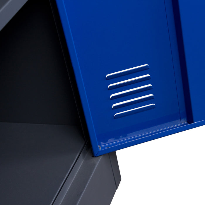 1 Door Metal Storage Locker Cabinet With Key Lock Entry
