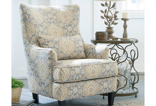 Ashley Aramore Fabric Floral Traditional Accent Chair