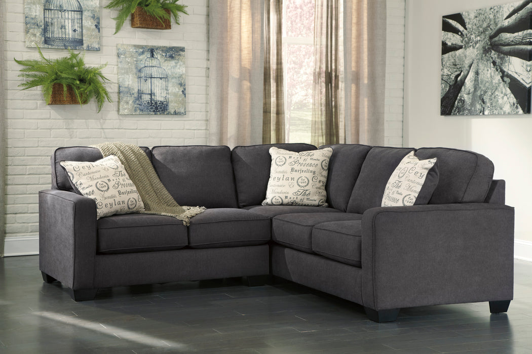 Signature Design Alenya Fabric Solid 2-Piece Raf Sectional