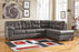 Signature Design Alliston Microfiber Solid 2 Piece Raf Sectional