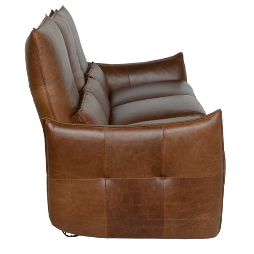 Amsterdam Leather Brown 3 Seater Recliner Sofa