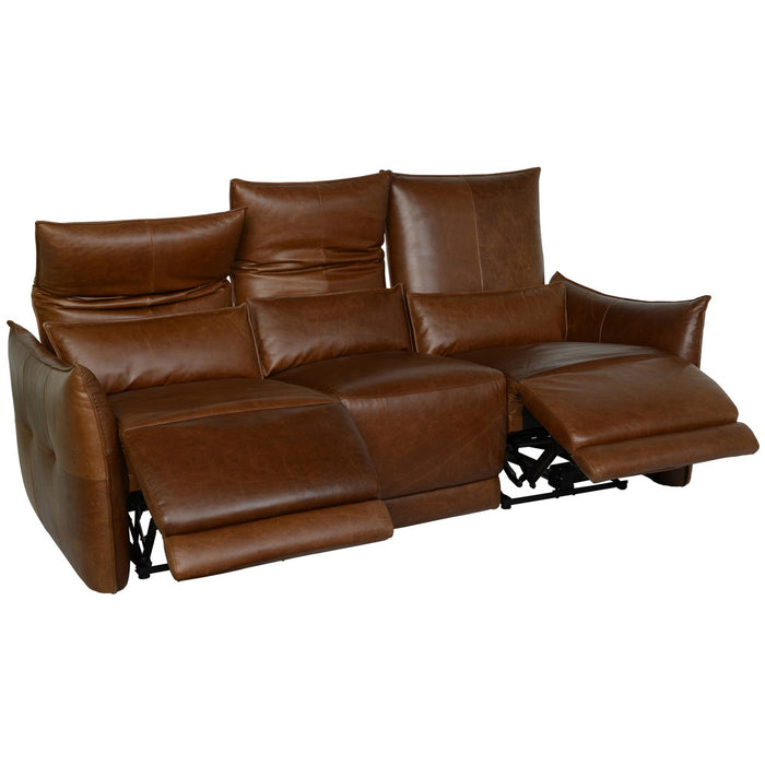 AMSTERDAM LEATHER 3 SEATER RECLINER SOFA