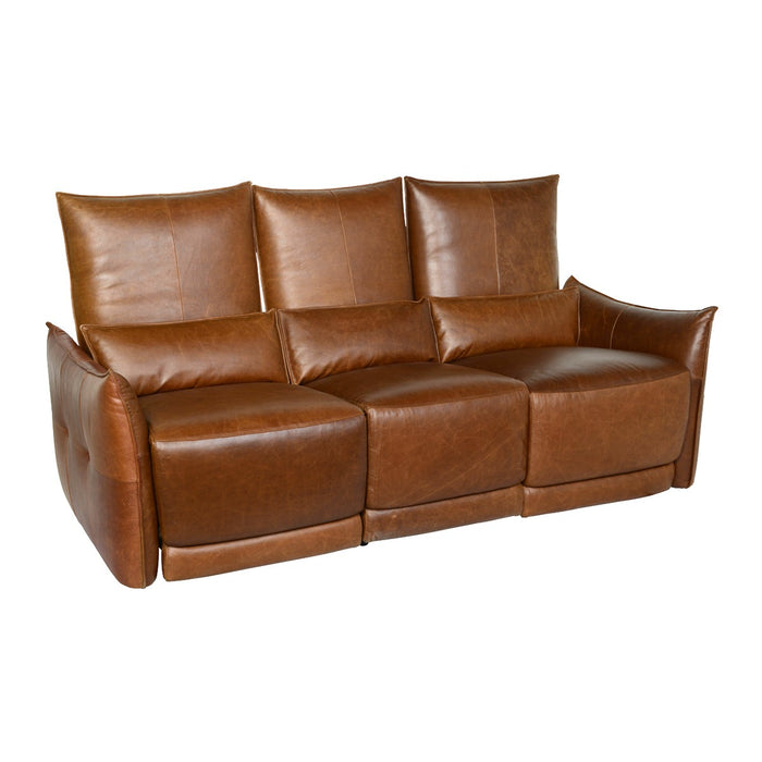 Amsterdam Leather Brown 3 Seater Recliner Sofa — Sofa Shack