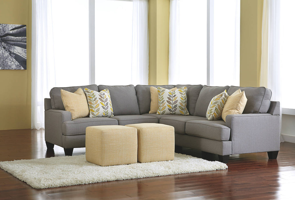 Signature Design Chamberly Fabric Solid Contemporary LAF Loveseat