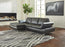 Signature Design Carrnew Fabric Solid Contemporary RAF Loveseat