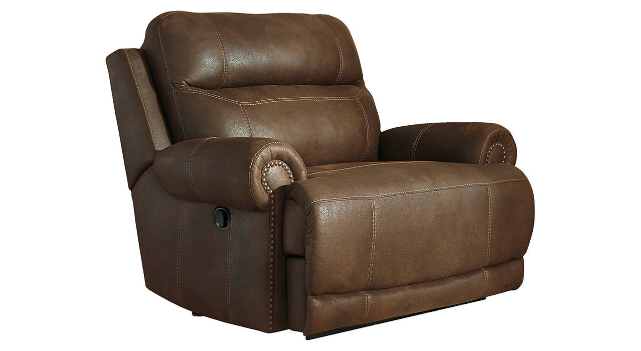 Signature Design Austere  Microfiber Solid Contemporary Zero Wall Recliner