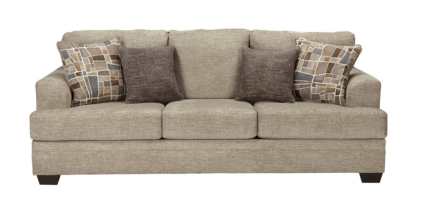 Barrish Fabric Solid Traditional Sofa