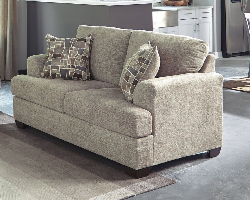 Benchcraft Barrish Fabric Solid Traditional Loveseat