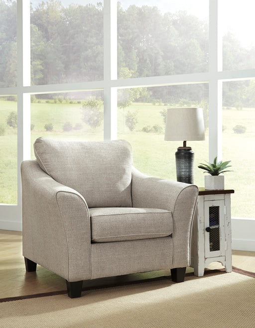 Benchcraft Abney Fabric Solid Contemporary Chair