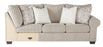Benchcraft Baranello Solid Fabric Casual RAF Sofa with Corner Wedge