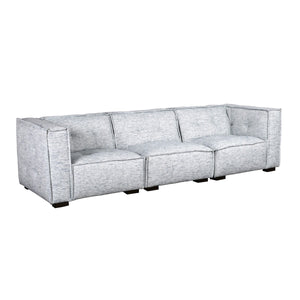 Element Polyester Blend Ivory Blue 3Pc Sofa