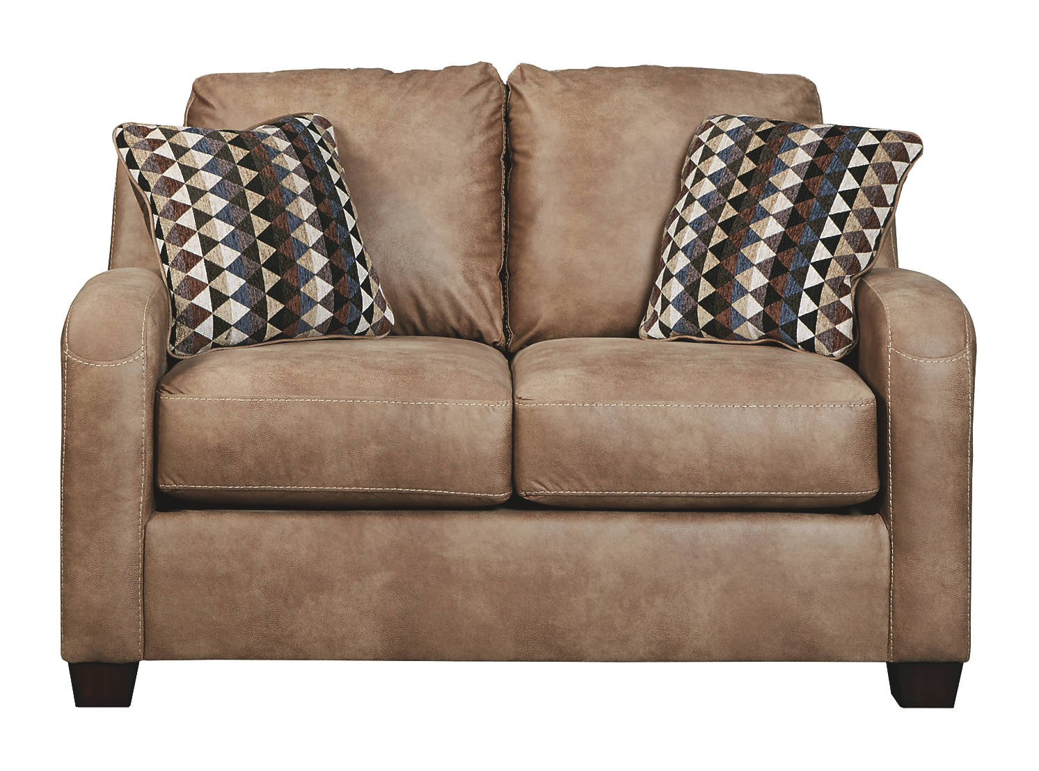 Benchcraft Alturo Fabric Solid Contemporary Loveseat