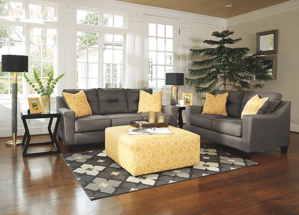 Benchcraft Forsan Nuvella Fabric Solid contemporary Sofa