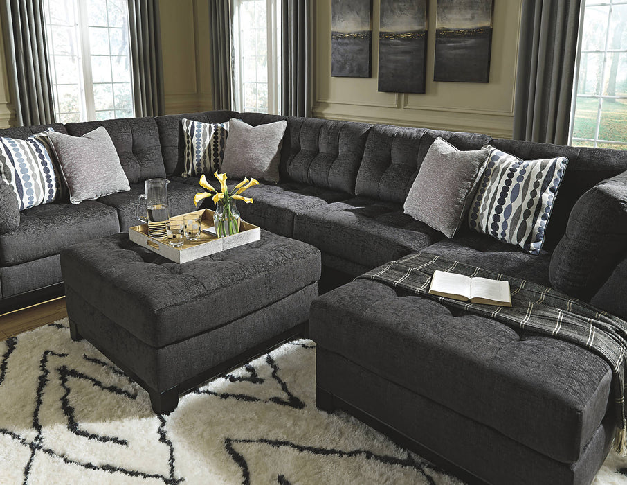 Ashley Reidshire Solid Fabric Contemporary Oversized Accent Ottoman