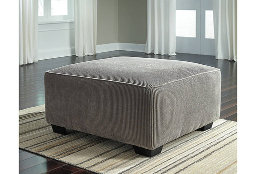 Signature Design Jinllingsly Solid Fabric Contemporary Oversized Accent Ottoman