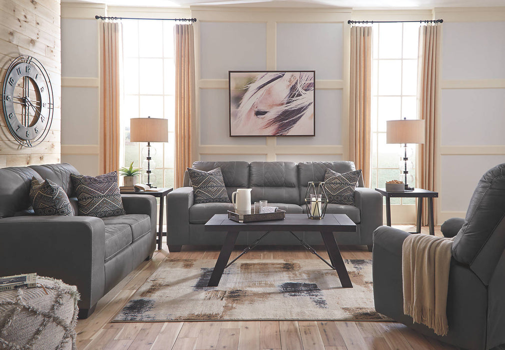 Benchcraft Narzole Fabric Solid contemporary Sofa
