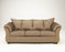 Signature Design Darcy Fabric Solid Contemporary Laf Full Sofa Sleeper