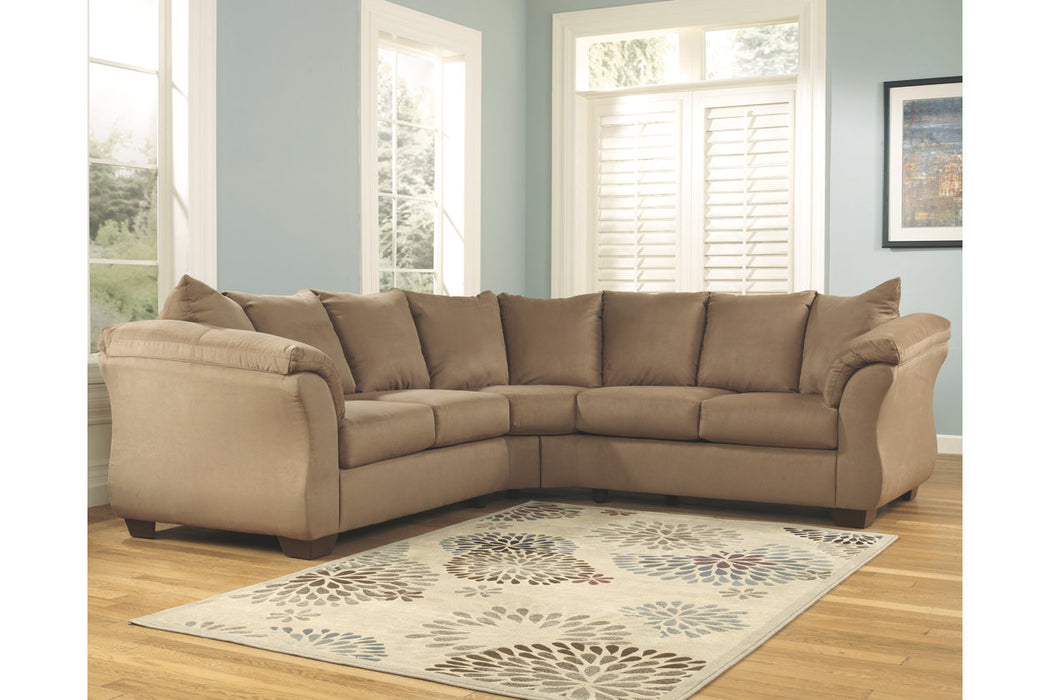 Super Darcy 2 Piece Laf Sectional With Sleeper Gmtry Best Dining Table And Chair Ideas Images Gmtryco