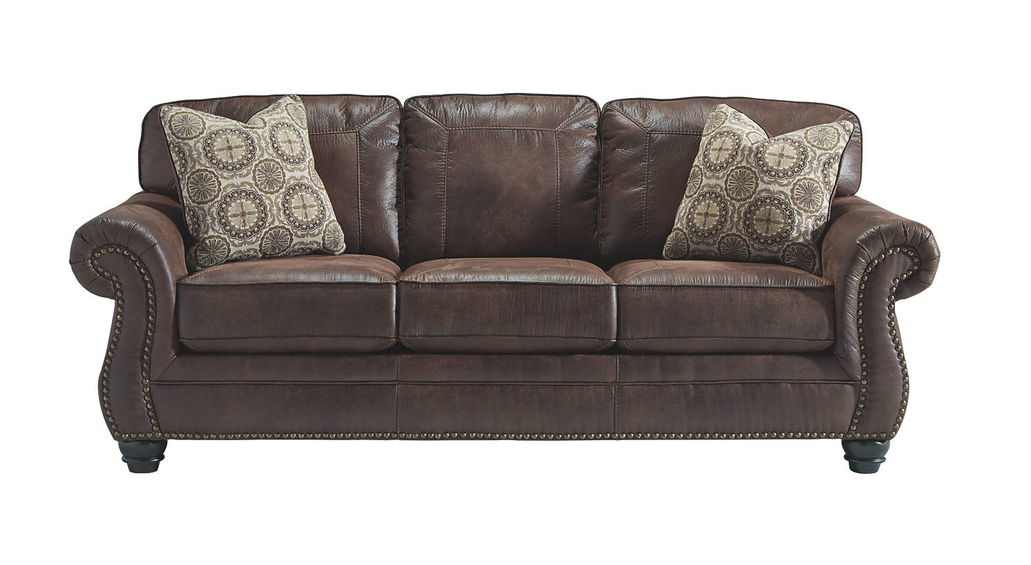 Benchcraft Breville weathered faux wood Casual Sofa
