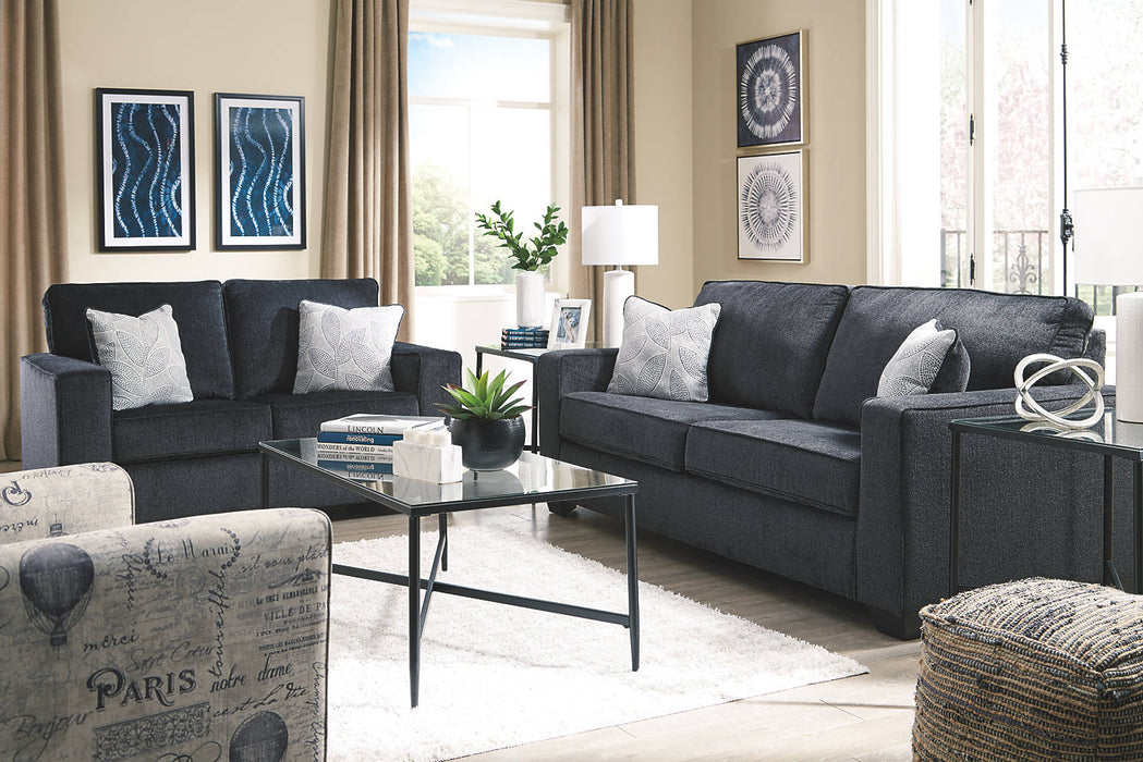 Signature Design Altari Fabric Solid Contemporary Loveseat