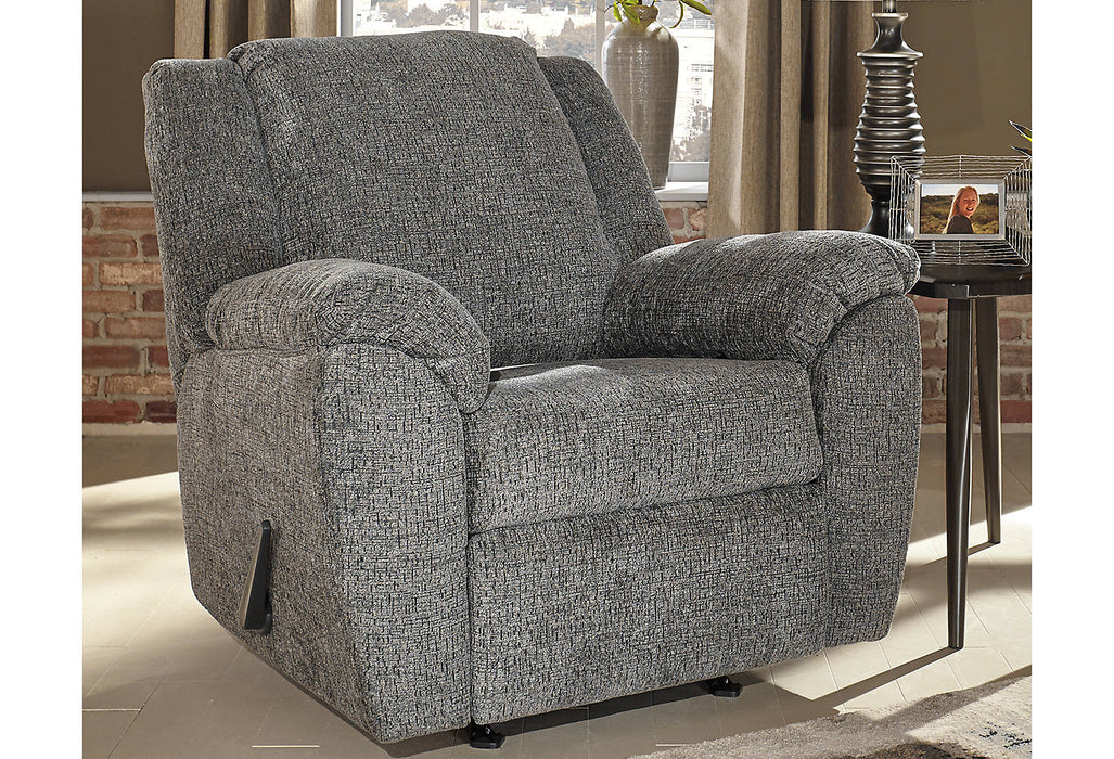 Signature Design Azaline Fabric Solid Contemporary Rocker Recliner