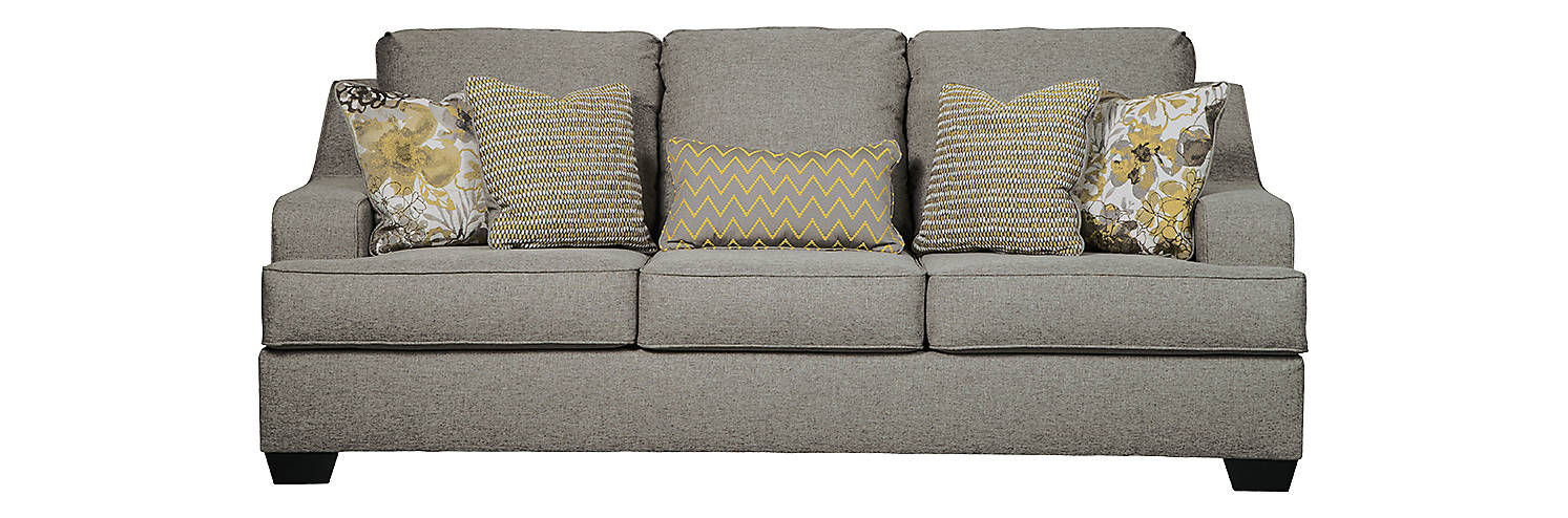 Benchcraft Mandee Queen Fabric Solid contemporary Sofa Sleeper