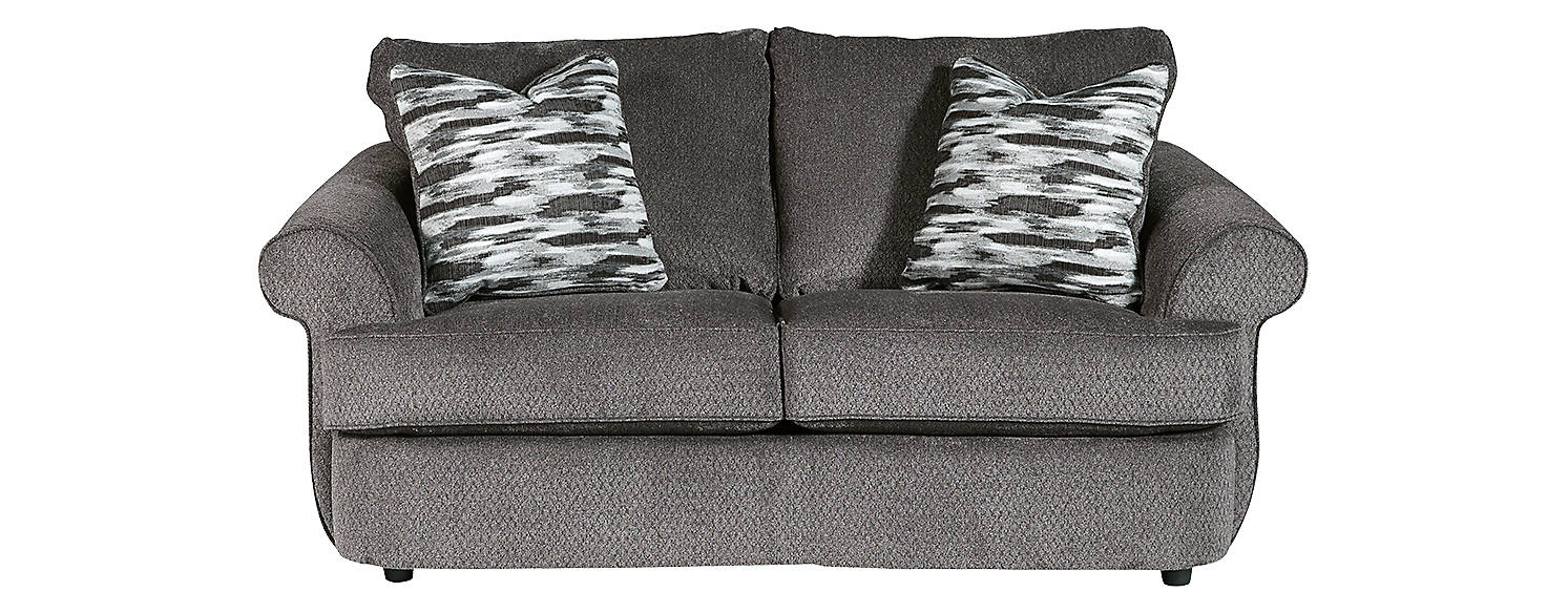 Benchcraft Allouette Fabric Solid Casual Loveseat