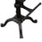 Abbot Adjustable Height Tractor-Seat Dining Stool in Black Powder Coat - Black