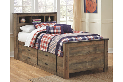 Signature Design Trinell Wood Casual Bookcase Bed With Storage