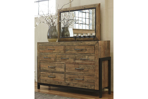 Signature Design Sommerford Wood Casual Dresser and Mirror